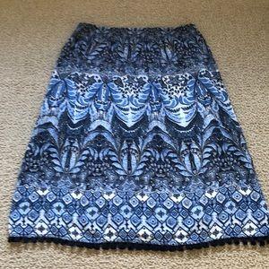 J.Jill fringe-trimmed skirt